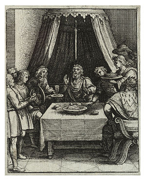 Wenceslas Hollar - The sword of Damocles