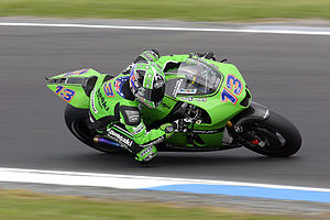 Anthony West (motorcycle racer) - Anthony West riding a Kawasaki at the 2007 Australian MotoGP at Phillip Island