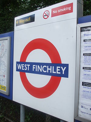 West Finchley tube station - Image: West Finchley stn roundel