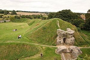 Castle Acre Castle and town walls - Remains of the west gatehouse in the outer bailey
