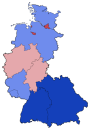 West German Federal Election - Party list vote results by state - 1969.png
