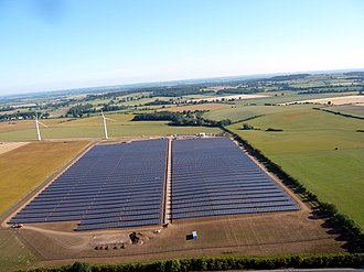 Photovoltaic system - Westmill solar park in the United Kingdom