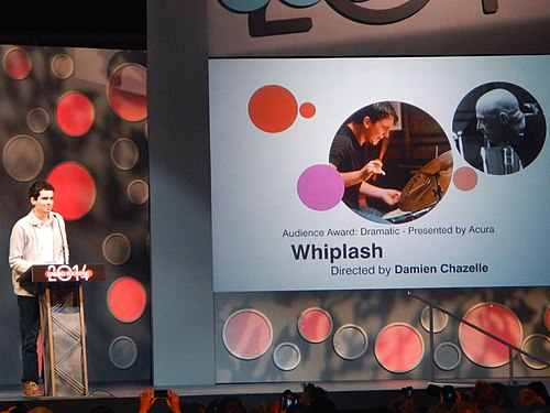 Whiplash won the U.S. Grand Jury Prize: Dramatic and Audience Award: U.S. Dramatic at the festival. Whiplash Wins the Audience Award for U.S. Dramatic (12186461704).jpg