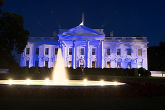 Peace Officers Memorial Day - White House is lit in blue in honor of Peace Officers Memorial Day, May 15, 2017.