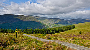 Lugnaquilla - Lugnaquilla seen from the Wicklow Way on the saddle between Lugduff and Mullacor.