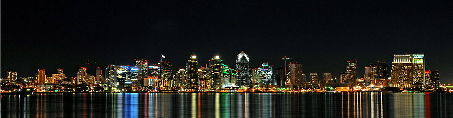 Panorama of San Diego as viewed from Shelter Island