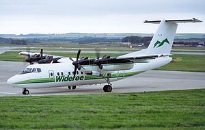 Widerøe - de Havilland Canada DHC-7 Dash 7 at Aberdeen Airport in 1993