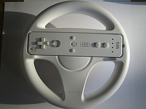 The Wii Wheel is a steering wheel for the Nint...