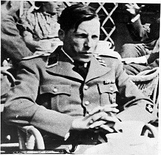 Schutzstaffel Sturmbannführer and a figure in the Holocaust