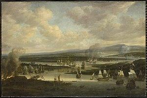 Willem Schellinks - Burning of the English fleet at Chatham