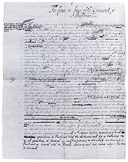 Первый проект конституции Пенсильвании, написанный Пенном в Англии (ок.1681)