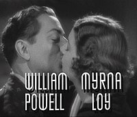 Nora and Nick Charles: William Powell and Loy in the 1936 film After the Thin Man