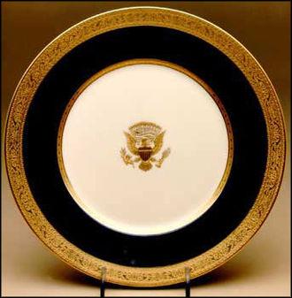 Walter Scott Lenox - The Wilson service - first American made bone china service.