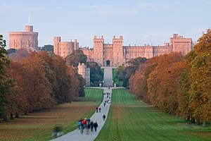 Windsor Castle, a thousand-year-old fortress transformed into a royal palace. This well-known silhouette of a seemingly medieval castle was not created, however, until the 1820s by Jeffry Wyatville.