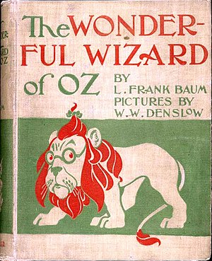 The Wonderful Wizard of Oz - 1900 first edition cover, George M. Hill, Chicago, New York
