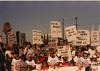 1986 California Proposition 65 - 1986 Protest against Proposition 65
