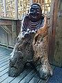 Wood carving of Maitreya, Mount Fanjing, 31 March 2020.jpg