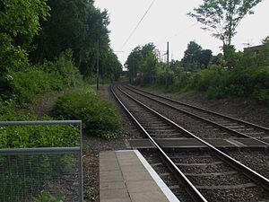 Addiscombe Line - The site of Woodside station on the Addiscombe Line, now part of the Tramlink route.