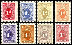 Taxation in Malta - Revenue stamps issued under the Workmen's Compensation Ordinance (WCO) between 1929 and 1943. The WCO was replaced by the National Insurance Scheme in 1956.