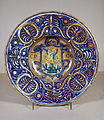 Workshop of Giorgio Andreoli - Bowl with Coat of Arms - Walters 481485.jpg