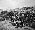 World War One; stretcher bearers wearing gas masks Wellcome L0009474.jpg