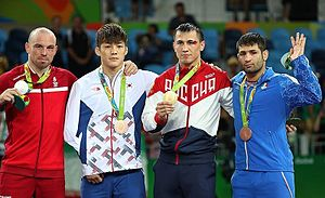 Wrestling at the 2016 Summer Olympics – Men's Greco-Roman 75 kg - Image: Wrestling at the 2016 Summer Olympics – Men's Greco Roman 75 kg
