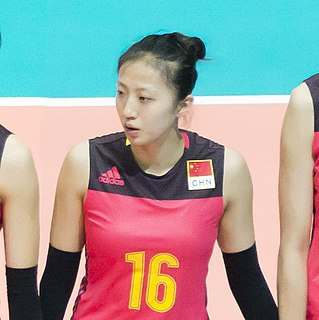 Ding Xia Female Chinese volleyball player
