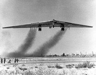 Northrop YB-49 - YB-49 takes to the air for the first time.
