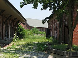 Abandoned warehouses of the Garrett Snuff Mill in Yorklyn