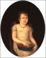 Young Girl Holding a Basket of Cherries by Joshua Johnson.png