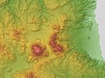 Yufu Volcano & Tsurumi Volcano Relief Map, SRTM-1.jpg