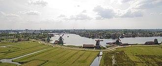 Zaanse Schans - Image: Zaanse Schans Drone