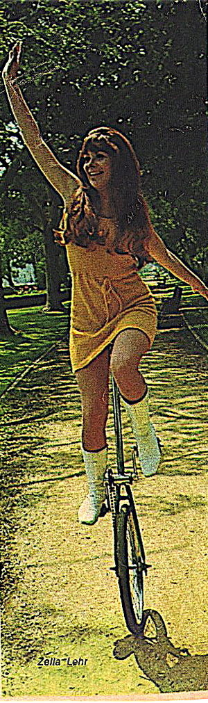 Zella Lehr - Zella Lehr as The Unicycle Girl on Hee Haw.