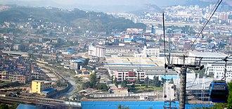 Zhangjiajie - Image: Zhangjiajie City