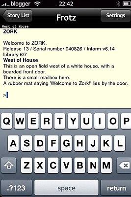 Zork on Frotz on iPhone.jpg