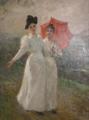 Zwei flanierende Damen in Weiss.png