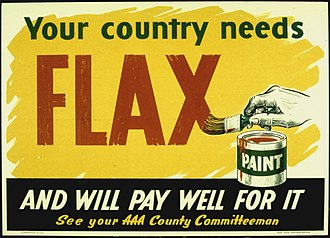 "Linseed oil - ""Your country needs flax .."" U.S. WWII poster soliciting linseed oil for use in paint"