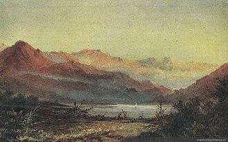 Antonio Smith (artist) - Image: ''Paisaje con cordillera y laguna'', 1870