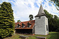 'Church of St Andrew' Greensted, Ongar, Essex England - from the northwest.JPG