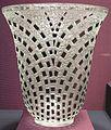 'Damiers Vase' by René Lalique, molded glass, Dayton Art Institute.JPG