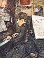 (Albi) Mademoiselle Dihau au piano - Toulouse-Lautrec - 1890 MTL.132.jpg