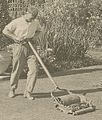 (Gardener pushing lawn mower, posed to illustrate Rudyard Kipling's poem The Glory of the Garden) (LOC) (19961471562) (cropped).jpg