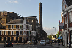 (former) Ram Brewery complex and Brewery Tap pub.jpg