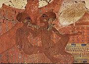 Dve z dcér Achnatona a Nefertiti