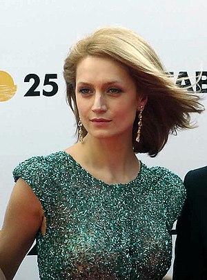 """Viktoriya Isakova - Viktoriya Isakova at the opening ceremony of the festival """"Kinotavr 2014"""" in Sochi."""