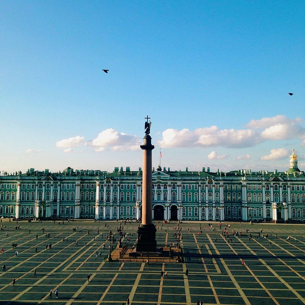 Дворцовая площадь. Вид с главного штаба
