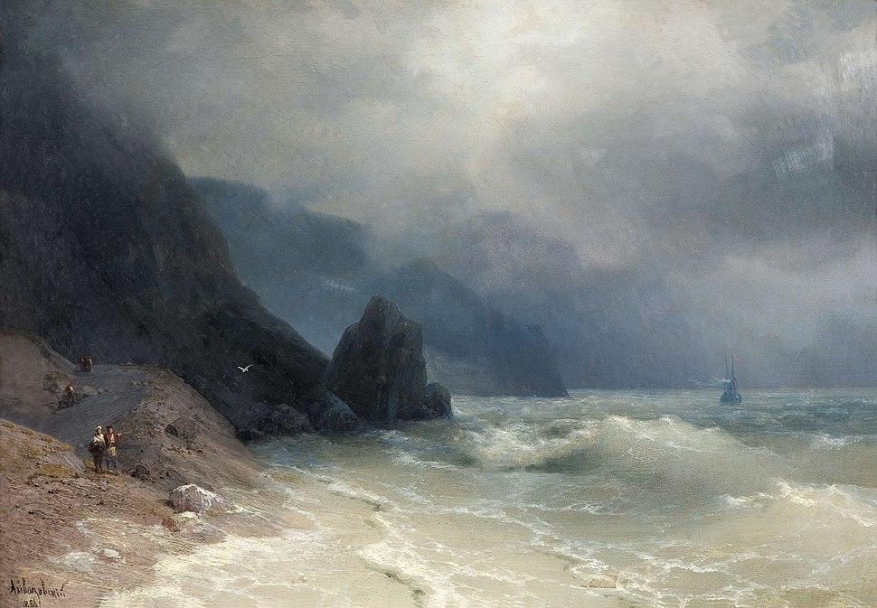 Иван К. Айвазовский - Морское побережье (1886)