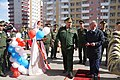 Командующий ЮВО открывает новый жилой городок во Владикавказе 2014 год.JPG