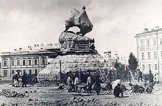 Bohdan Khmelnytsky Monument, Kiev - Image: Памятник Богдану Хмельницкому Киев