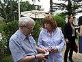 מנכל סטימצקי איריס בראל, הסופר יורם קניוק (4644940814).jpg